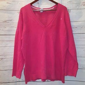 Old Navy V-Neck Sweater Size 3X Pink